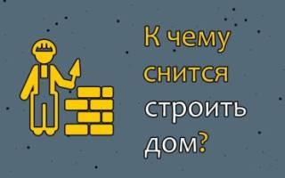 Сонник строить дом